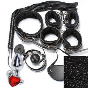 KIT STARTER BDSM SET manette bondage + plug anale erotico sadomaso bdsm intimo