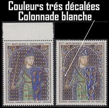 1964 FRANCE 1424** VARIETE Couleurs très décalées & Colonnade blanche Superbe !!