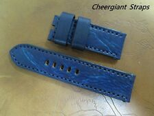 Steinhart White Shark dark blue vintage grained leather strap Cheergiant Straps