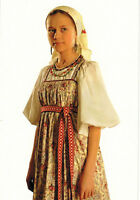 "COUNTRY GIRL (""Russian folk costumes"" series) Modern Russian postcard"