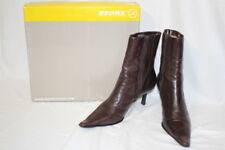 """BRONX By Dijkmans Brown Leather""""Chelsea""""Ankle Boots Womens 41/US 11M Brazil-B136"""