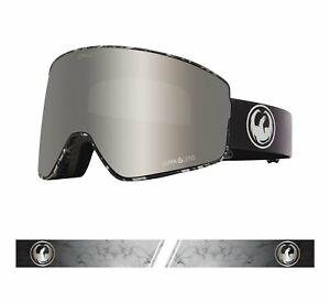 Dragon 2021 PXV2 Quartz Black/White w/ Silver Ion LL + Bonus lens Snow Goggles