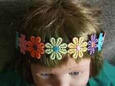Flower hair bandeaux fabric daisy chain flower headband coloured hairband band