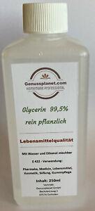 Glyzerin 99,5% Glycerin, Glycerol 250ml rein pflanzlich E422 f. Lebensmittel