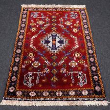 Orient Teppich Weinrot 111 x 82 cm Perserteppich Tiermotive Carpet Rug Alfombra