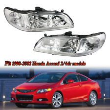 Headlight Lamp Light Pair Right Left For 1998 1999 2000 Honda Accord Sedan/Coupe