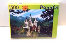 NEUSCHWANSTEIN CASTLE, BAVARIA, GERMANY, 1500 PIECE JIGSAW PUZZLE - NEW & SEALED