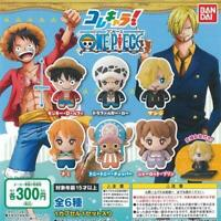 BANDAI Kore characters! ONE PIECE Gashapon 6set mascot capsule toys Complete set