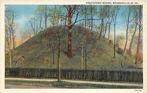 H65/ Moundsville West Virginia Postcard c1920s Prehistoric Indian Mound 6