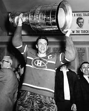 Montreal Canadiens JEAN BELIVEAU Glossy 8x10 Photo Stanley Cup Print Poster