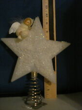 Tree Topper Star White with Angel on Top 91310  265