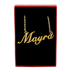 Mayra Name Necklace - Gold Tone - Cubic Zirconia - Mothers Day