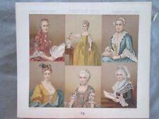 Vintage Print,FRANCE,PORTAITS,DE FEMMES,Costume,Historique,1888,Racinet