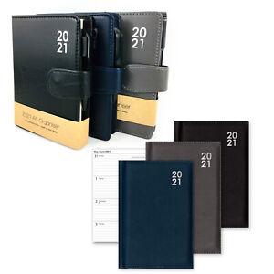 2021 Diary A6 Organiser Week View Mens Office Desk Pocket Slim Planner Pen Gift