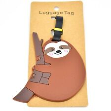 Brown Rubber Sloth Baggage Luggage Traveling Tag