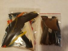 2 Vintage Bags Exotic Colorful Bird Feathers Fly Tying Material Fish