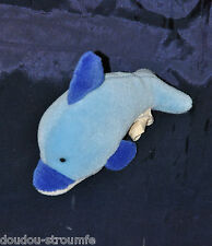 Peluche Doudou Dauphin ANNA CLUB PLUSH Poisson 2 Tons De Bleu 13 Cm TTBE