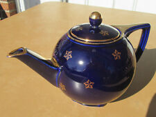 "Hall China ""STAR"" TEAPOT, COBALT/GOLD..reducing PREMIER collection!"