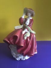"Royal Doulton Bone China Lady Dress Figurine ""Top O' The Hill"" England"