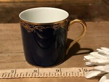 Classic Rose Collection Rosenthal Group Germany Colbalt Blue w/Gold Demi Cup