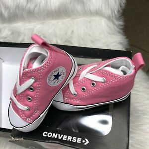 Converse All Star Chuck Soft Bottom 88871 Pink New Born Baby Shoes Size 3