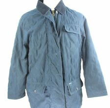 Womens Faconnable L Large Tall Parka Lined Windbreaker Barn Jacket Coat Quilted