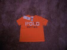 NWT Baby Boys 9M Ralph Lauren Polo S/S Cotton Jersey Polo & Co Summer Melon R$20