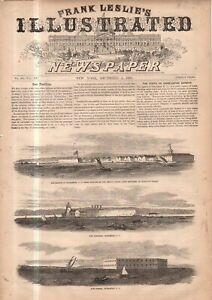 1860 Leslie's - December 1 - Original print only; Charleston Harbor Forts