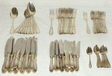 Altes Perlrand Silberbesteck 800 Silber Besteck silver 72 Teile 4200gr, 12 Perso