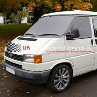 VW TRANSPORTER T4 WINDOW CAMPER SCREEN CURTAIN WRAP FROST COVER GREY 117