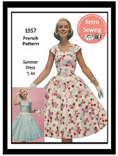 1950s Summer Dress French Sewiing Pattern