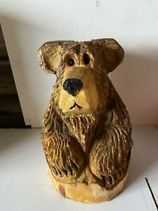 Chainsaw Carved  Bear In Stump Carved Bear Carvings Wood Carvings