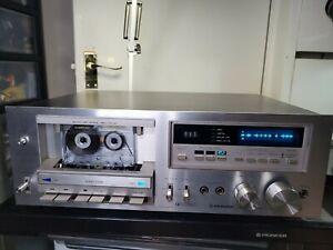 Pioneer CT-F750 cassette tape deck blue line 2-head HiFi Auto Reverse Japan 70