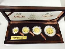 2005 China Panda Lunar Prestige 4 Gold/Silver Coins Set Year of Rooster1000Limit