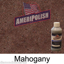 1 GL. Mahogany CONCRETE COLOR DYE 4 CEMENT, STAIN AMERIPOLISH Solvent based