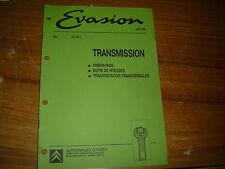 REVUE TECHNIQUE CITROËN EVASION...TRANSMISSION EMBRAYAGE BOITE DE VITESSES etc..