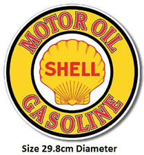 Shell Motor Oil Gasoline Round Tin Sign 830 Made in USA Huge Selection In Store