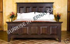 Contemporary Design Wooden Indian King size Panel Double Bed !!