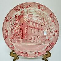 Staffordshire Warner House Souvenir Plate Historic Landmark John Roth 6 7/8""