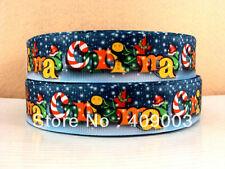 "Christmas Ribbon 1"" Wide NEW UK SELLER FREE P&P"