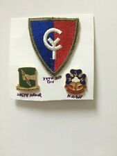 U. S. ARMY 38TH INFANTRY DIVISION COLORED PATCH WW II & CRESTS