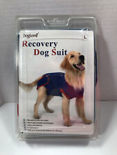 DogLemi Dog Injury Protection Surgery Recovery Suit Size Large NEW Blue Red Soft