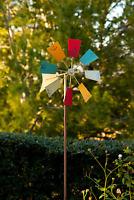 36cm Colorful Rainbow Triple Wheel Wind Spinner Windmill Garden Yard Decor To NV