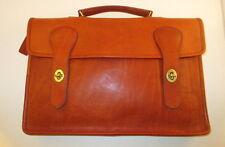 Coach Vintage Bonnie Cashin Pre-Creed Rust Leather Satchel Briefcase/Briefbag