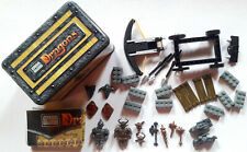 MEGA BLOKS METAL BOX 9864 Dragons War Chest Ballista and Warriors with Weapons