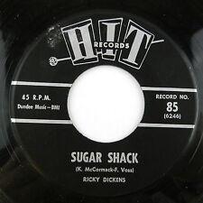 1963 45 SINGLE RECORD ALBUM RICKY DICKENS SUGAR SHACK CONNIE DEE HELLO HEARTACHE