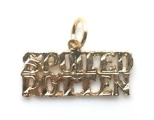SPOILED ROTTEN Yellow Gold Plated Metal Pendant Word Charm For Necklace Chain