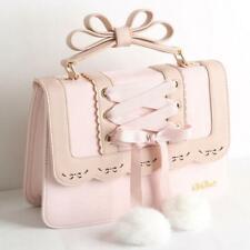 Womens Lolita Bowknot Ribbon Sweet Girl Princess Handbag Shoulder Bag 4 Colors