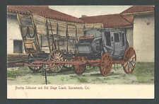 Ca 1902 Ppc* Prairie Schooner & Old Stage Coach Sacramento Ca Mint