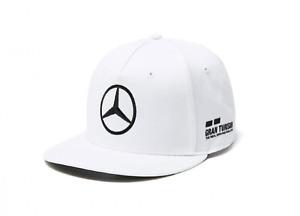 CAP Hamilton Flat Brim Peak Formula One 1 Mercedes AMG Petronas F1 NEW! White